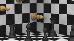 3-D chess board