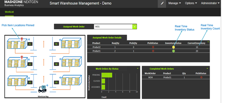 Smart Warehouse Screenshot 1